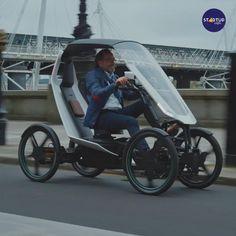 Electric Cargo Bike, Electric Cars, Electric Vehicle, Velo Design, Bicycle Design, Futuristic Motorcycle, Futuristic Cars, Trike Bicycle, 4 Wheel Bicycle
