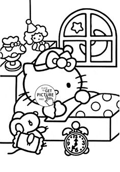 print coloring pages Hello Kitty