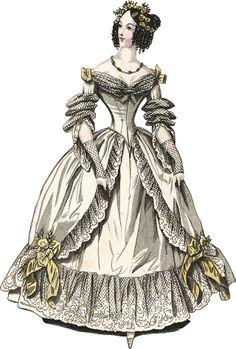 Robe du soir, 1832