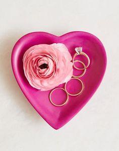 Soapstone Heart Dish - Pink