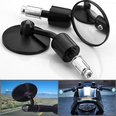 Motorcycle Chrome Plated Billet Aluminum Outside Rearview Side View Mirrors Multi Angle Adjustable Blindsight Rearview Handle Bar End Convex Universal Fit For Ducati Monster 796 848 1198 / Yamaha YZF R6 R600R FZ6 / Honda CBR 600RR / Suzuki GSX-R600 R750 - http://www.biketrade.co.uk/?product=motorcycle-chrome-plated-billet-aluminum-outside-rearview-side-view-mirrors-multi-angle-adjustable-blindsight-rearview-handle-bar-end-convex-universal-fit-for-ducati-monster-796-848-1198-y