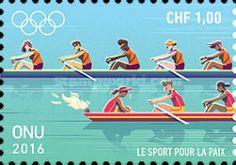 UN Geneva, 22.7.2016. Olympic Games - Rio de Janeiro, Brazil. Value: 1,00 CHF, Issued (1/4): 180.000 pcs. Price: 40,52 CZK.