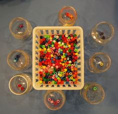 Sorting beads - great for color and fine motor practice.