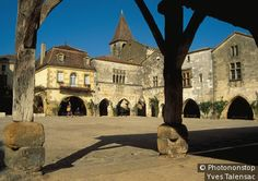 Monpazier, Dordogne. One of the best preserved bastide towns in France
