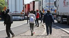 """Eurotunnel says it is preparing for a """"difficult night"""" and has increased security after 150 migrants tried to storm the Calais terminal. Services were disrupted after migrants accessed restricted areas on Saturday. Keith Vaz, chairman of the Home Affairs Select Committee said the EU must tackle the """"problems of people arriving in the EU itself"""". Calais's deputy mayor, Philippe Mignonet, wants the UK to introduce ID cards and employment controls."""
