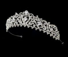 "Silver Rhinestone Crystal Bridal Wedding Headband Melissa Kay Collection. $78.75. Lead Free Alloy. Silver plated. Width: 8"" wide Height: 1-1/2"" tall. Rhinestone Crystals"