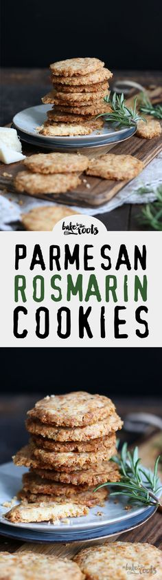 My favorite cookies when it comes to savory cookies - Parmesan Rosemary Cookies | Bake to the roots
