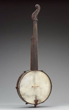 Banjo    William Esperance Boucher, Jr., about 1845–55  Overall: 30.9 x 9 x 94.7 cm (12 3/16 x 3 9/16 x 37 5/16 in.)