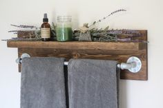 Rustic Bath Towel Rack