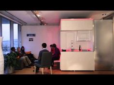 ▶ MIT Media Lab CityHome: What if 200 ft2 could be 3x larger? - YouTube | A micro-unit apartment developed by Kent Larson's Changing Places Research Group.