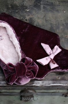 VELVET HOT WATER BOTTLE COVER IN DUSTY PLUM