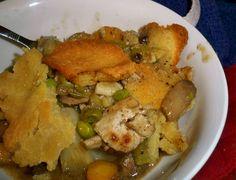 Gluten free, dairy free, sugar free Chicken pot pie