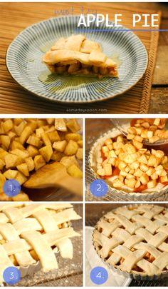 Vegan Apple Pie - serve warm with a drizzle of caramel sauce