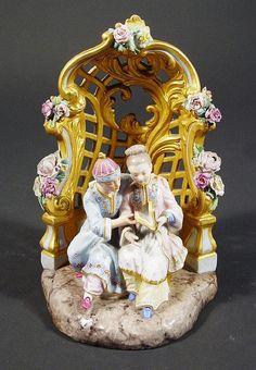 Meissen porcelain figure group, the oriental male