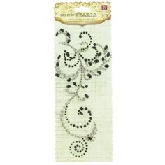 Perfect swirls are nearly impossible to create by hand, and now you don't have to. This self-adhesive Say It In Pearls Black & Clear Swirl embellishment features pearls and crystals that catch the light and add elegance to your cardmaking, scrapbooking, collage, decoupage, and other creative projects. Perfect for decorating gifts, tags, bags and more it will add gorgeous visual interest to your designs. Package contains one piece.