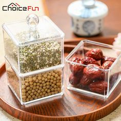 CHOICE FUN 2016 New Arrival Plastic Container For Food Storage Practical Tea Box Coffee Sugar Storage Candy Container SF-1183-B