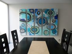 etapa circular,acrilico sobre tela   Cuadros Decorativos * DOS M * pintado por Sofía