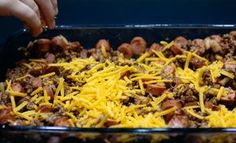 Ground beef, hot dogs, homemade chili, and cheese baked to perfection. You are in the right place about Ground Beef alfredo Here we offer you the mos Low Carb Chili, Low Carb Keto, High Fat Keto Foods, Keto Fat, Ketogenic Recipes, Low Carb Recipes, Diet Recipes, Healthy Recipes, Ketogenic Diet