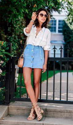 Street style look block heels.