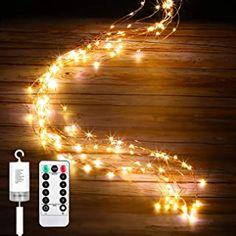 IDESION Led Lichterbündel mit Fernbedienung 1M Silberdraht Mirco Lichterkette Batteriebetrieb8 LichtmodiTimer modus Lichterdraht Copper LightDeko für Innen und Außen Warmweiß(100 Mikro Led) - 17.99 - 4.2 von 5 Sternen - Lichterkette Herbst 2019