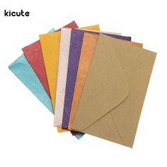 50Pcs Vintage Retro Small Colored Blank Mini Paper Envelopes Wedding Party Invitation Envelope Greeting Cards Gift Envelope