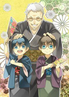 Blue Exorcist ~~ Chibi Twins and Father Shiro