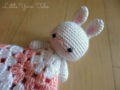 Bunny Lovey/Security Blanket | Bunny by Little Yarn Tales Blanket by The Stitchin Mommy