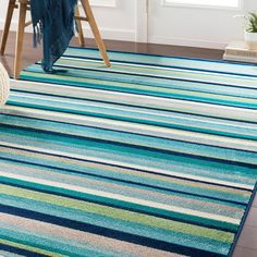 Shop the Rug - Color: Teal, Aqua; Size: x by Surya. Made from Polypropylene in Egypt. This Machine Made Teal, Aqua rug has a pile_height, perfect for a soft yet durable addition to your home. Teal Area Rug, Area Rugs, Teal Rug, Carpet Stains, Cool Tones, Rug Store, Online Home Decor Stores, Cool Rugs, Outdoor Rugs