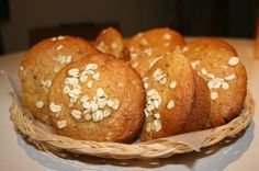 Red River Oat Bran Muffins (Really good recipe) I substituted 1/4 applesauce for the shortening. NB