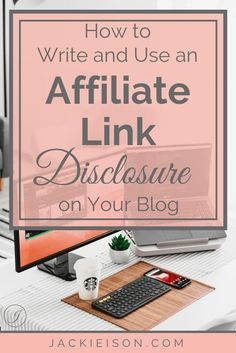 Learn how to use an #affiliate link disclosure in this article! Make Blog, How To Start A Blog, Passive Income Sources, Reputation Management, Blog Topics, Blog Writing, Creating A Blog, Blogging For Beginners, Growing Your Business