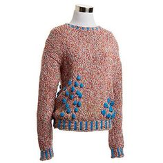 Turquoise and Multicolor Sweater | NiftyThrifty - Rare Finds Everyday - Rococo