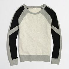 This #JCrew Factory colorblock sweatshirt would be great to wear on the weekends. On sale for $37