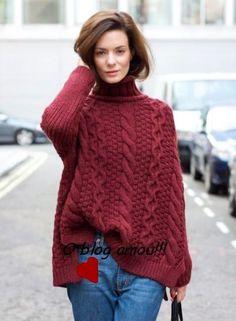blusas de lã feminina inverno bordô