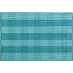 Jute Turquoise Check Rug in Area Rugs   Crate and Barrel Tia's room