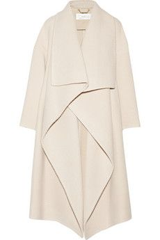 chloé draped alpaca-blend coat