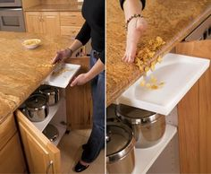 Here's something new: an undercounter vacuum for your kitchen