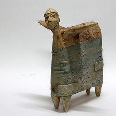 The Pegassuss no. 7/Ceramic Sculpture/ Unique Ceramic Figurine/Ceramic Sculpture/ art ceramic
