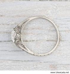 Vintage engagement ring. Oh my gosh. I think this is a fav.