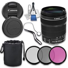 Canon EF-S Image Stabilization USM with Grace Photo Accessories Kit Nikon D3100, Nikon 50mm, Sony A6000, Canon Zoom Lens, Canon Ef, Iphone 6, Digital Camera Lens, Camera Photos, Photo Lens