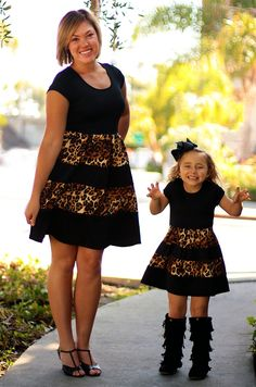 How fun is this mommy and me dress??? From Be Inspired Boutique Want to WIN this look?? Follow Be Inspired Boutique on pinterest and find out how you can #win a $500 giftcard!! #beinspiredboutiue #inspiredbyyou