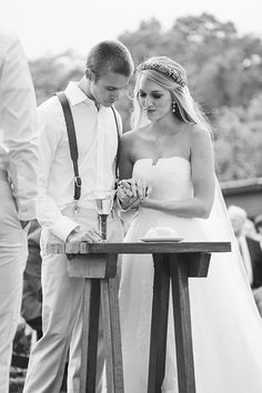 Communion during the ceremony