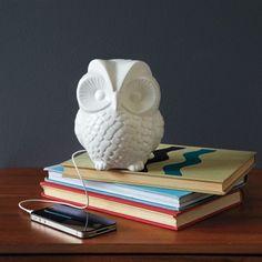 So cool! A Ceramic Owl Speaker!!
