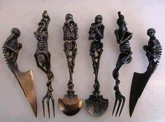 gothic silverwear