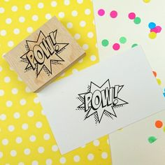 POW! Rubber Stamp - Comic Book Style Rubber stamp - bullet journal stamp - organizer stamp - planner stamp - pop art - superhero - explosion by SeriousStamp