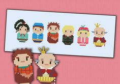 Mini People - Wreck it Ralph cross stitch by cloudsfactory