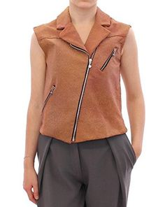 La Maison du Couturier Gorgeous brand new with tags, 100% Authentic La Maison du Couturier exclusive vest. Best craftsmanship and a work of art.  Model: Vest jacket Color: Brown Front zipper opening Two front pockets Sleeveless Logo details Material: 100% Leather Size...  More details at https://jackets-lovers.bestselleroutlets.com/ladies-coats-jackets-vests/active-performance-ladies-coats-jackets-vests/fleece-active-performance-ladies-coats-jackets-vests/product-review-for