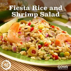 Here's a zesty Fiesta Rice and Shrimp Salad that tastes even better ...