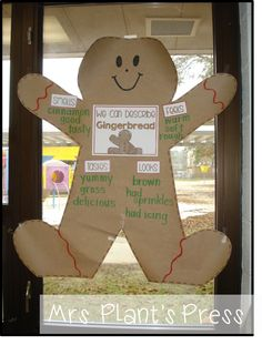 Who can describe gingerbread? Tastes: Looks: Feels: Smells: Gingerbread Man Kindergarten, Gingerbread Man Activities, Christmas Activities, Gingerbread Stories, Preschool Christmas, Christmas Crafts, Christmas Gingerbread Men, Kindergarten Activities, School Fun