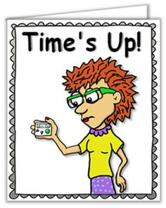 This FREE little 8 page book is a sample of the many Little Books available in my tpt store. All of my social stories - including TIME'S UP - come in LITTLE Book 3 x 4 inches when folded and BIGGER Book (8 x 7 inch when folded) as well as a black-line version of the BIGGER Book.Print one ON LEGAL SIZE PAPER.