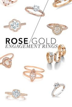 Pretty engagement rings in rose gold, the hottest metal right now | Brides.com